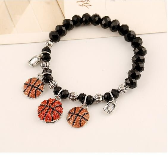 Basketball Crystal Bead Bracelet - Free Shipping