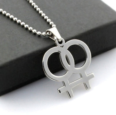 Lesbian Pride Female Symbol Necklace