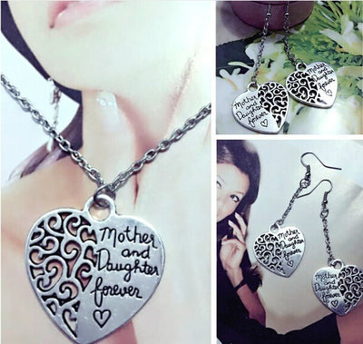 Mother and Daughter Forever - Necklace or Earrings