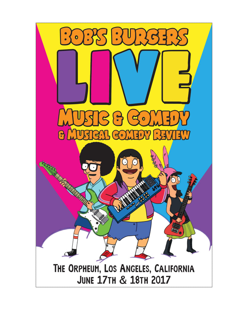 Bob's Burgers LIVE farts 12x18 poster - (ORPHEUM PICKUP ONLY)