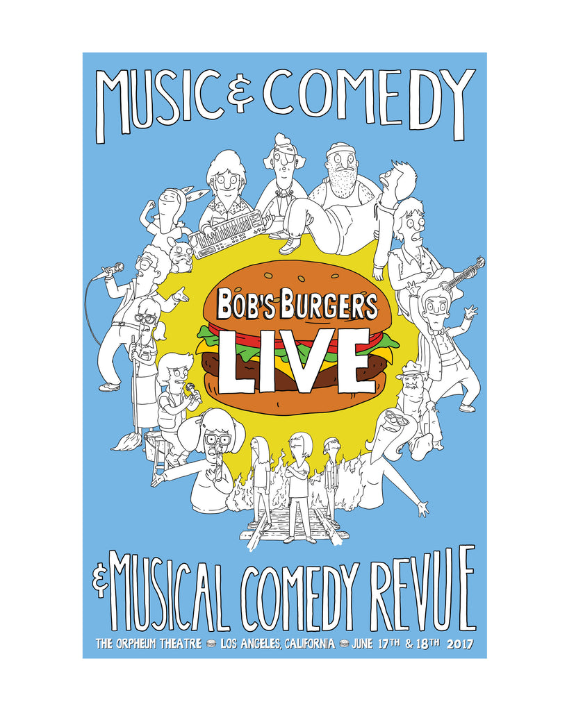 Bob's Burgers LIVE burger 12x18 poster - (ORPHEUM PICKUP ONLY)