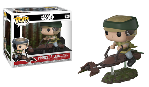 Funko POP! Deluxe: Leia on Speeder Bike