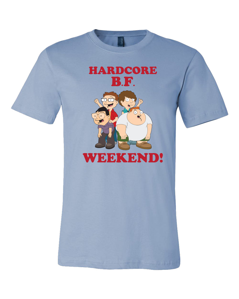 SDCC 2018 Hardcore BF Weekend tee in blue (SDCC pickup only)