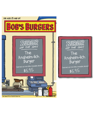 Wondercon 2020 Bob's Burgers Burger of the Day Anaheim-lich enamel pin
