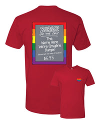 Pride 2020 - RED - Bob's Burgers Burger of the Day tee