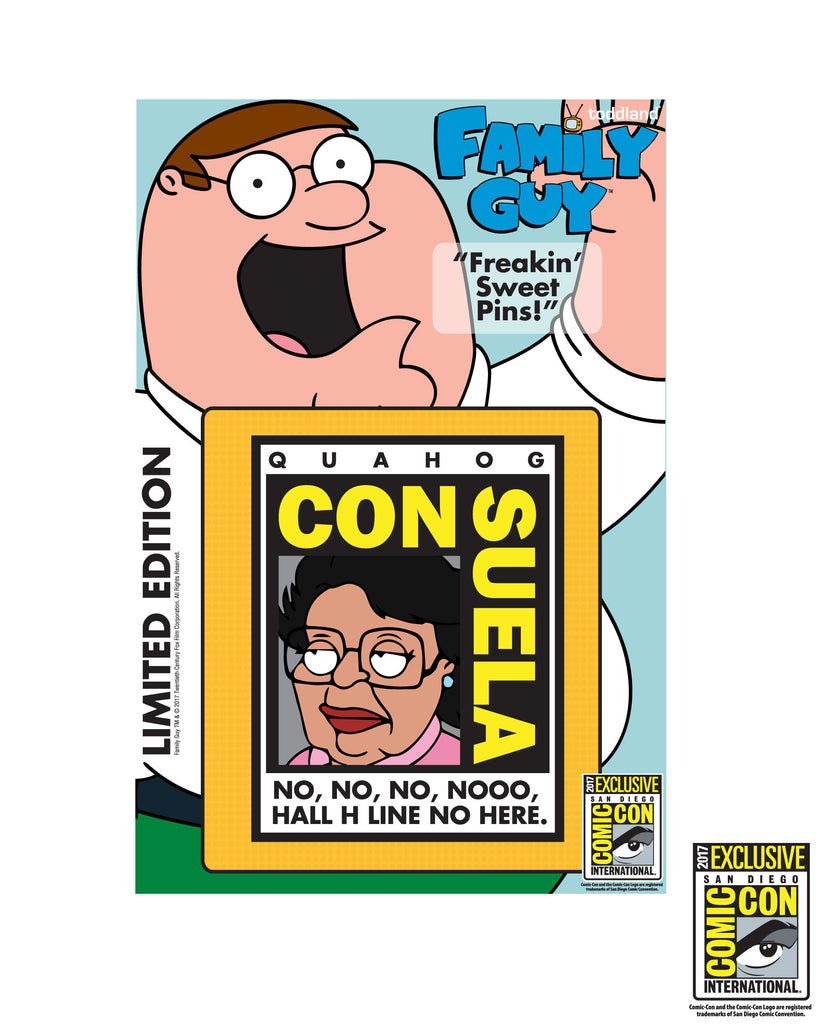 "SDCC 2017 - CONsuela 1.5"" enamel pin - edition of 250pcs (SDCC pickup only)"