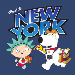 "NYC 2018 Family Guy ""Road to New York"" tee in blue (shipping week of 10/8)"