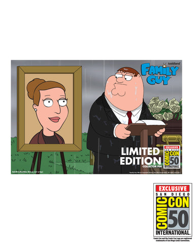 2019 Family Guy SDCC Exclusive Heaven has gained a princess enamel pin (limited edition of 400)