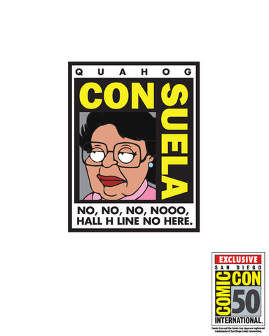 2017 Family Guy SDCC Exclusive CON-suela Con sticker