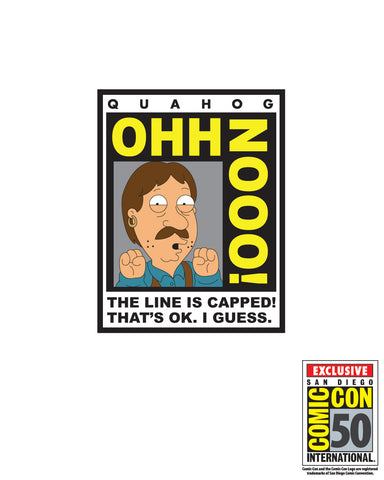 2018 Family Guy SDCC Exclusive Bruce Con sticker