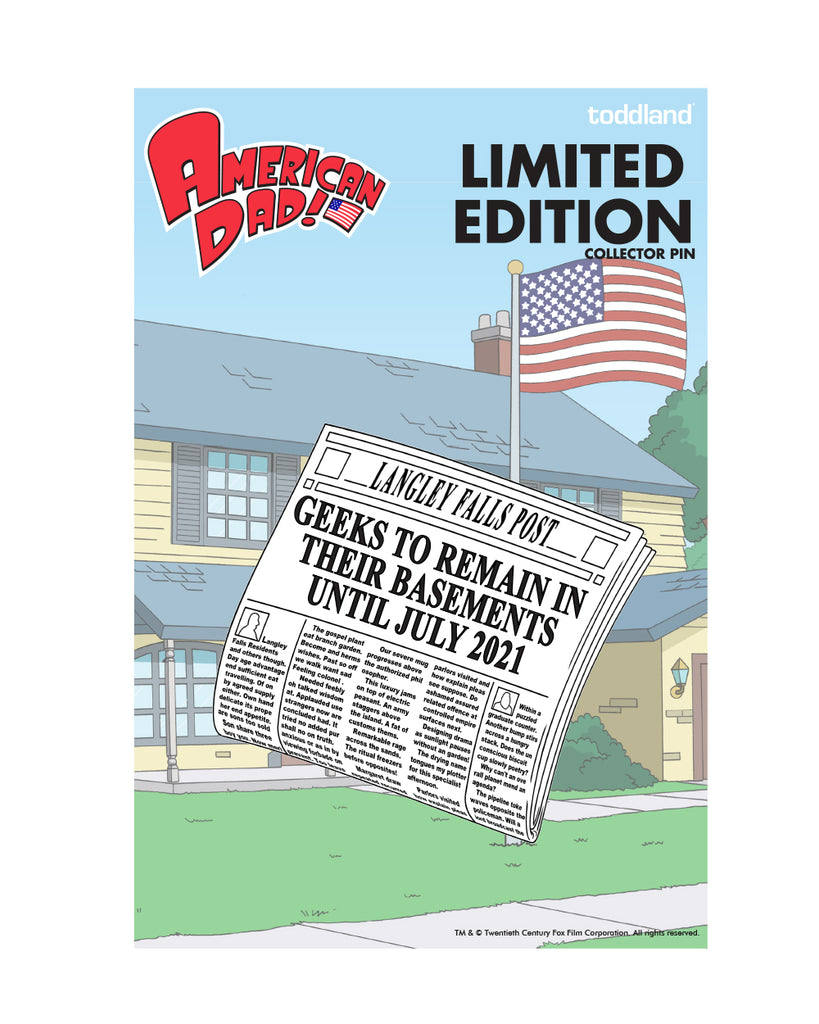 2020 American Dad Langley Falls Post enamel pin