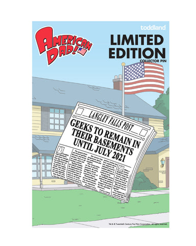 2020 American Dad Langley Falls Post enamel pin (limited edition of 200)