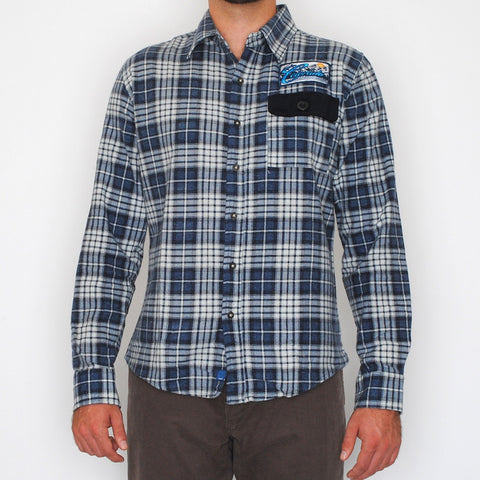 ColoRADo brushed flannel with patch button down shirt