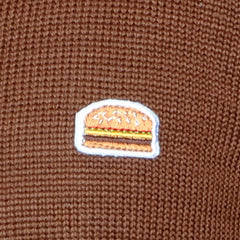 Royale with cheese burger cardigan sweater
