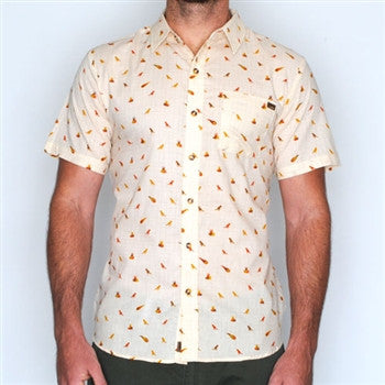 fossil fuels short sleeve button down shirt