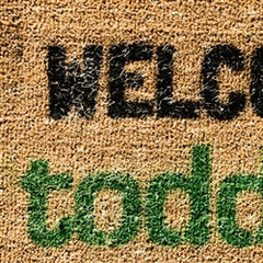 welcome to toddland doormat