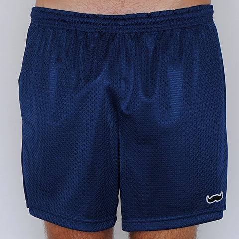 mesh stache (see what we did there) mesh gym shorts - navy