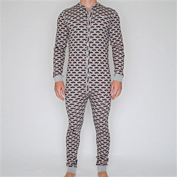 mustache union suit (IN STOCK - NOW SHIPPING!)