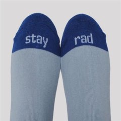 athletic socks - blue/gray with stache