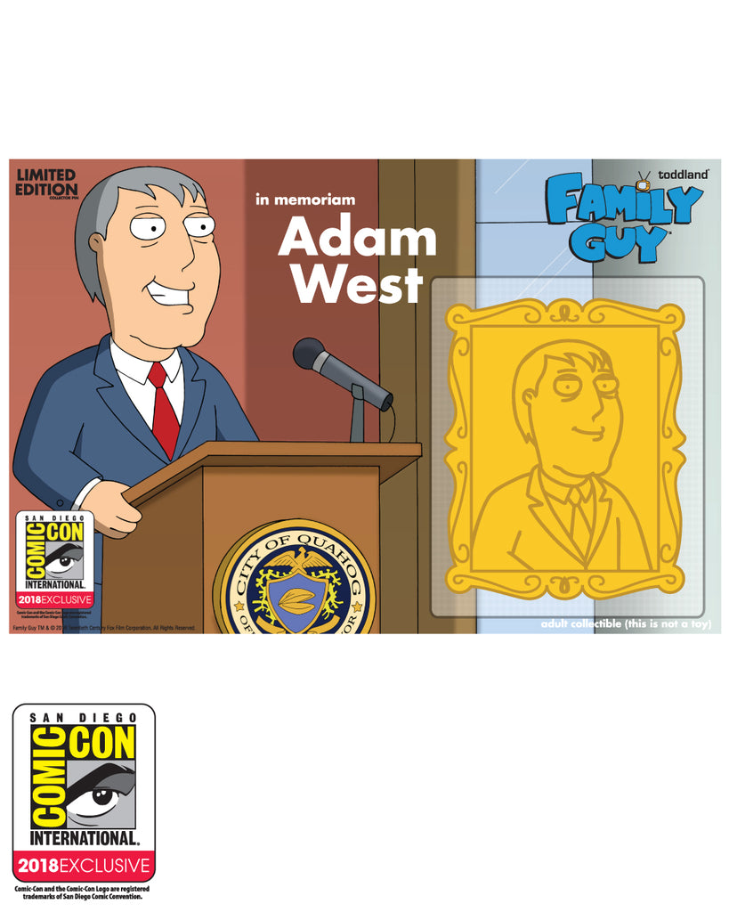 SDCC 2018 Exclusive Gold Metallic Adam West pin (SDCC pickup only) LE#400