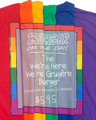 Pride 2020 - ROYAL - Bob's Burgers Burger of the Day tee (pre-order ships 9/15)