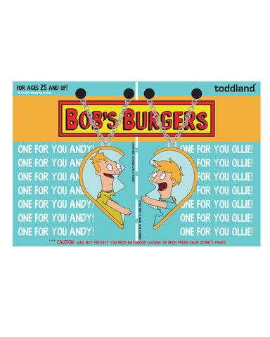 2019 SDCC Bob's Burgers Andy&Ollie BFF necklaces