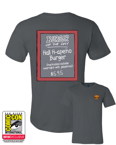 SDCC 2018 Exclusive Burger of the day Tee asphalt gray (SDCC pickup only)