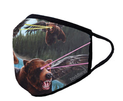 Synnibarr lazer bears adult FACE MASK - (ESTIMATED SHIP DATE 6/15)
