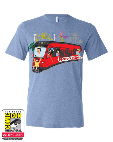 SDCC 2018 Exclusive Trolley Tee Blue Triblend (SDCC pickup only)