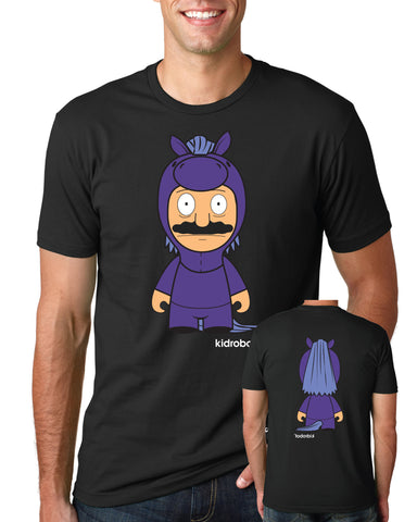 SDCC 2018 Kidrobot x toddland Bobcephila Bob's Burgers exclusive tee - black (SDCC PICKUP ONLY)