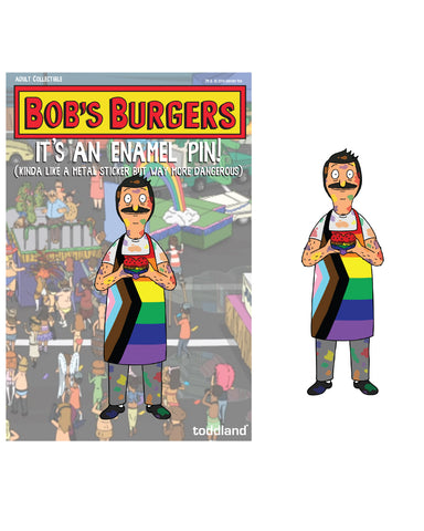 Pride 2020 - Bob enamel pin - Bob's Burgers (limited edition of 225)