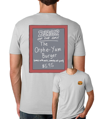 Bob's Burgers Burger LIVE Burger of the Day tee - light gray (ORPHEUM PICKUP ONLY)