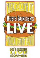 Bob's Burgers Burger LIVE LIVE tee - heather gray triblend (ORPHEUM PICKUP ONLY)