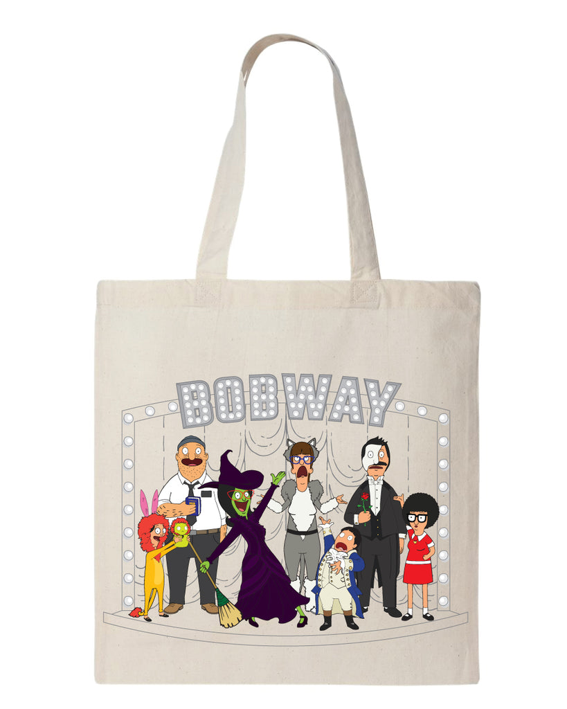 "NYC 2018 Bob's Burgers ""Bobway"" tote bag natural (shipping week of 10/8)"