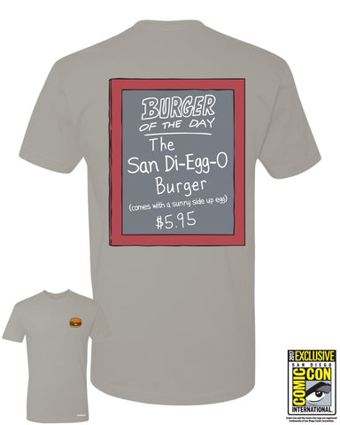 SDCC 2017 Exclusive - Burger of the Day tee - Light Gray (SDCC pickup only)