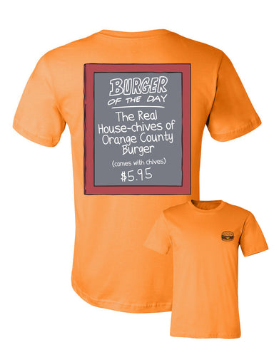 2019 Wondercon Bob's Burgers Burger of the Day tee –orange (pickup only)