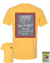 SDCC 2017 Exclusive - Burger of the Day tee - Heather Gold Triblend (SDCC pickup only)