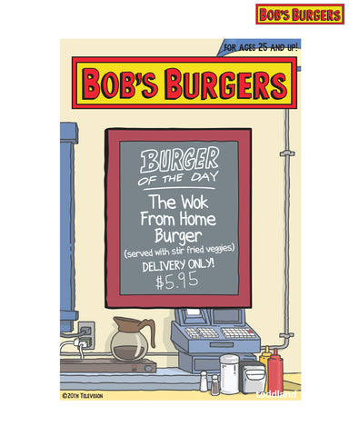 2021 Bob's Burgers Wok from Home Burger of the Day pin (limited edition of 300)