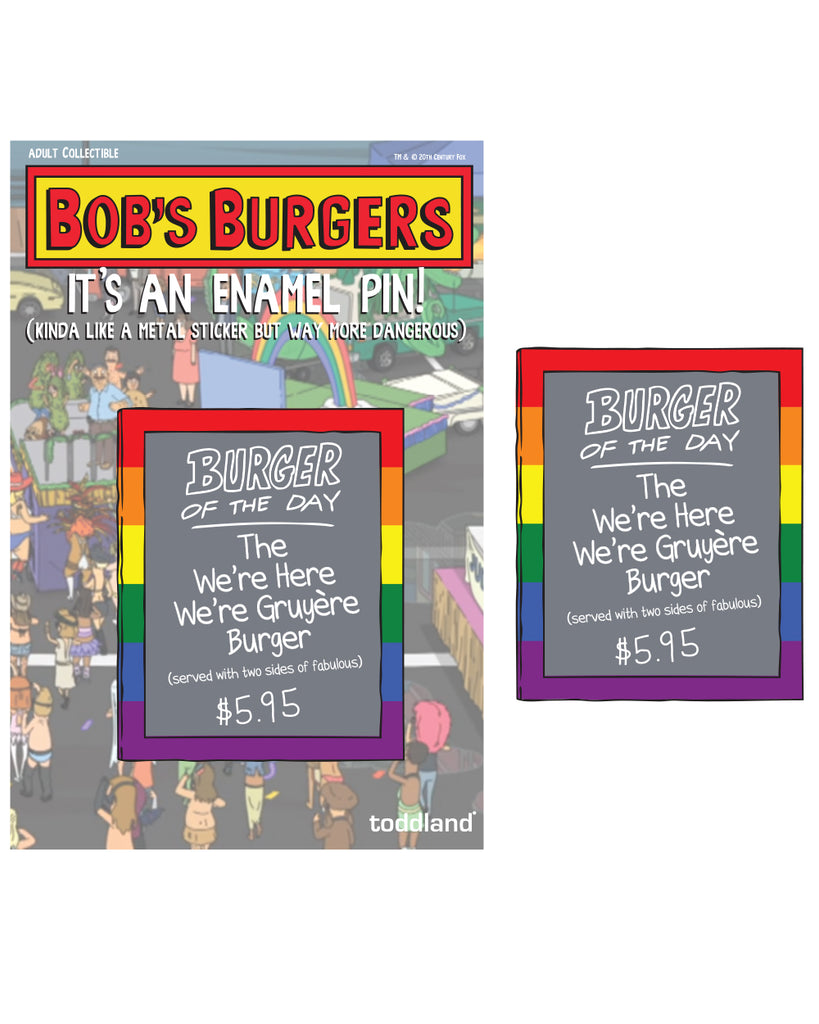 Pride 2020 - Burger of the day enamel pin - Bob's Burgers (pre-order ships 9/15)