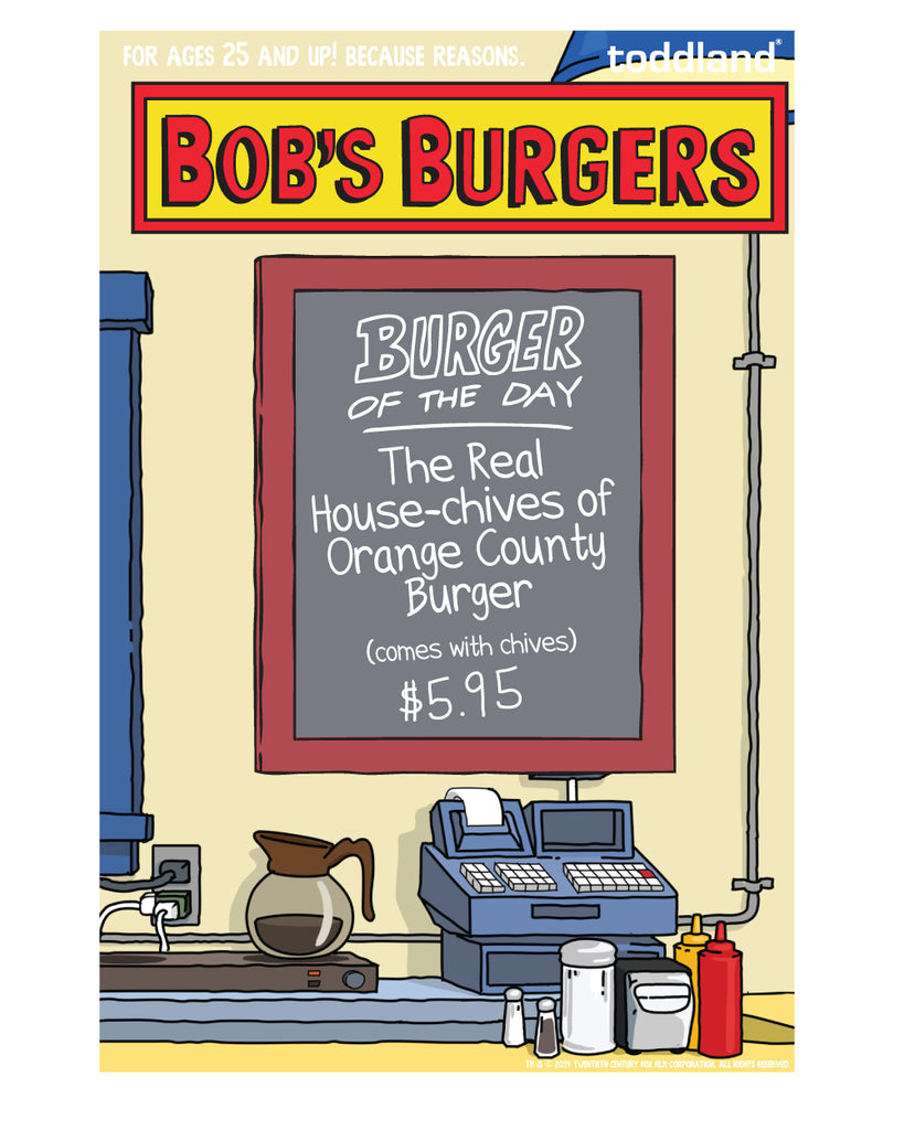 2019 SDCC Bob's Burgers Real Housechives Burger of the day pin - (con pickup only)