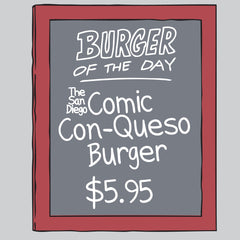SDCC 2016 Burger of the Day tee - light gray (WONDERCON PICKUP ONLY)