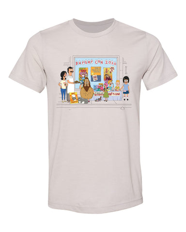 2020 Bob's Burgers Burger con (heather cool gray) tee
