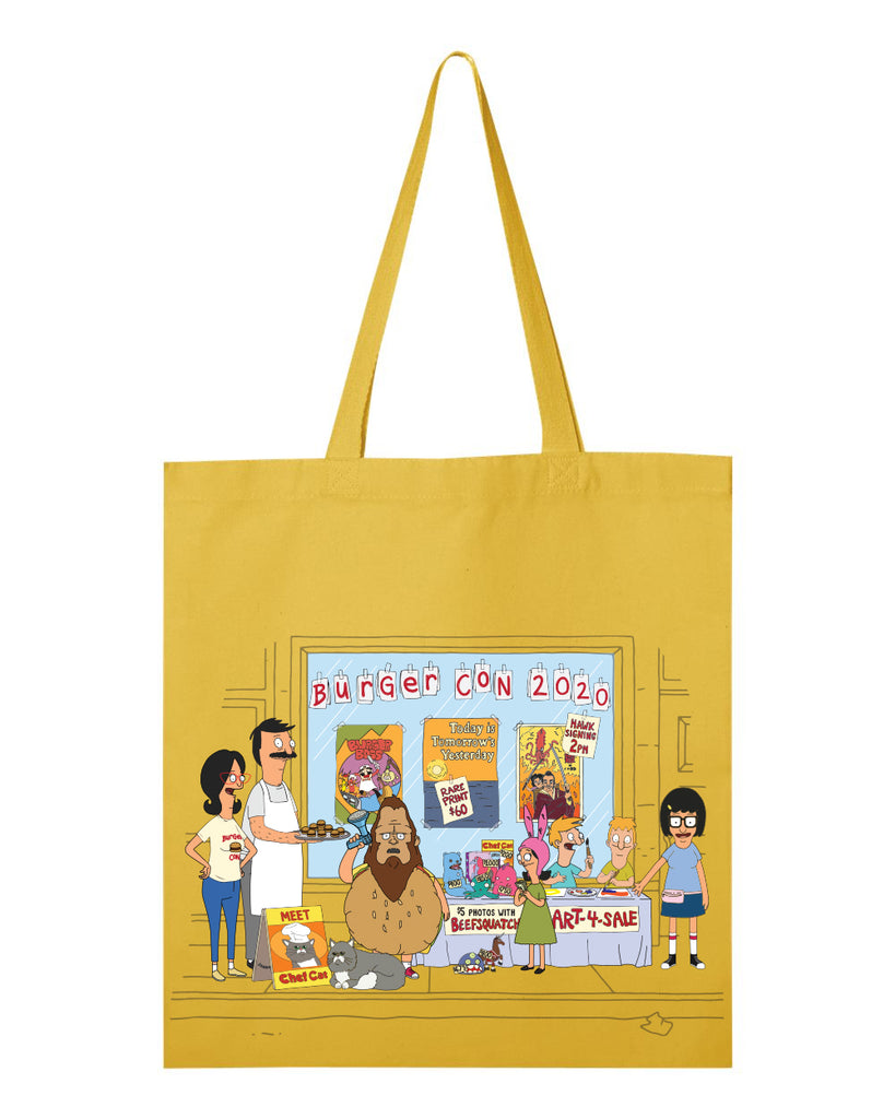 2020 Bob's Burgers Burger Con heavy canvas grocery tote