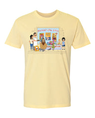 2020 Bob's Burgers Burger con (pale yellow) tee