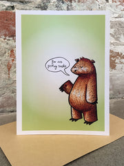 Bear of Bad News Ha Ha Holiday Card
