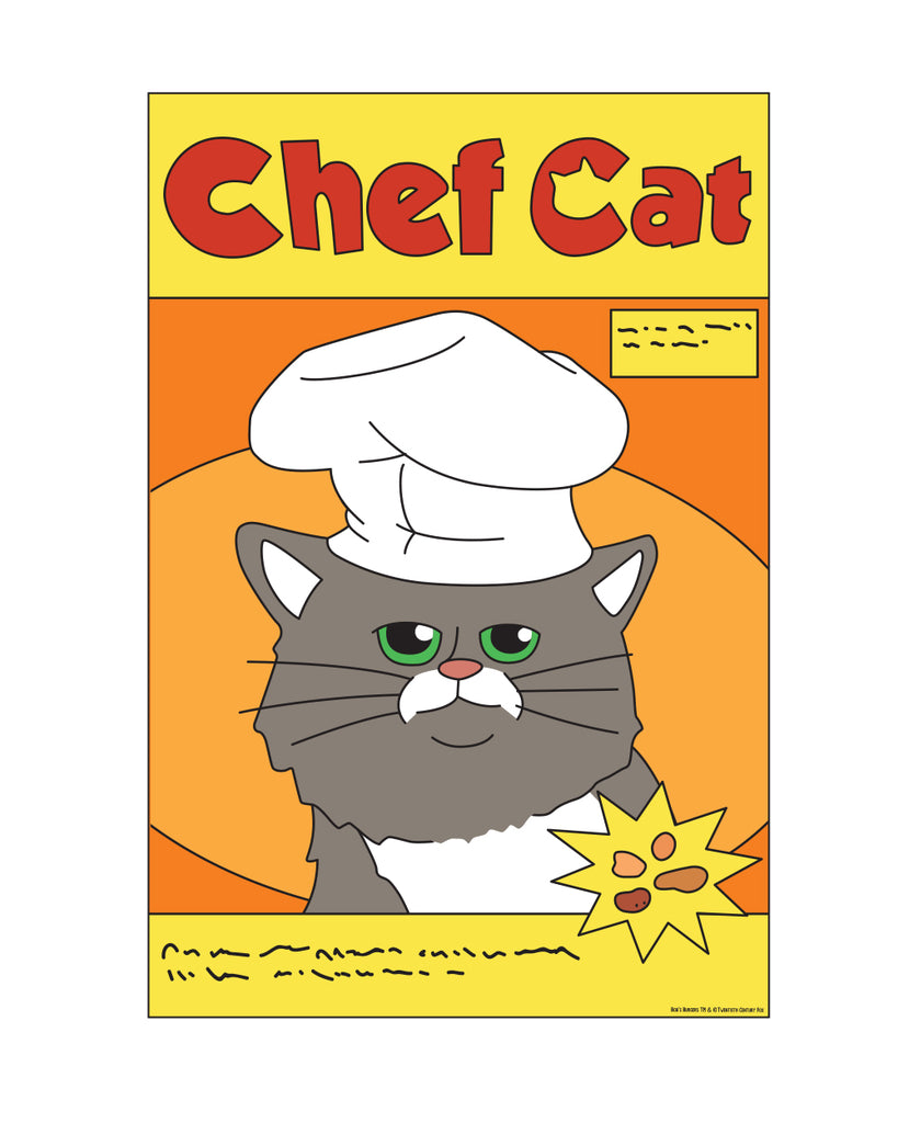 Wondercon 2020 Bob's Burgers Burger Chef Cat Sticker