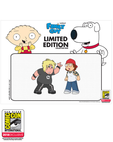 ARCHIVE: SDCC 2018 Exclusive Chris and Meg 2 pack pins LE#100
