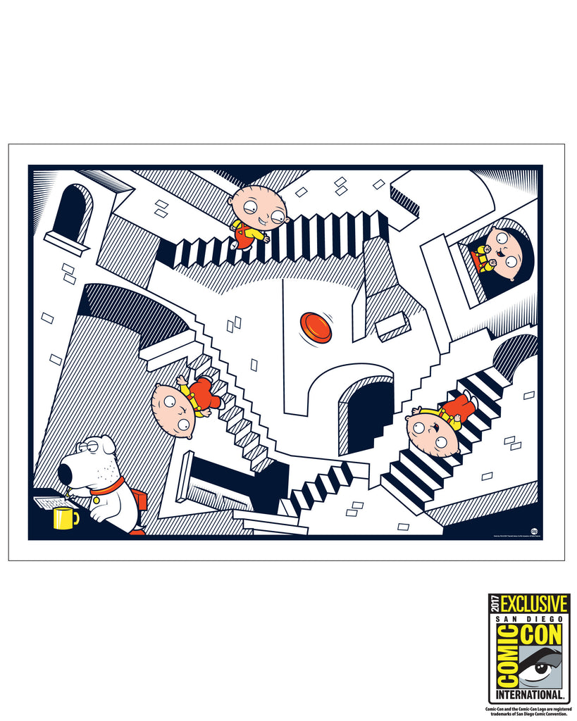 "SDCC 2017 - ""Crazy Stairs"" 18""x24"" Dave Perillo art print - edition of 100pcs (SDCC pickup only)"