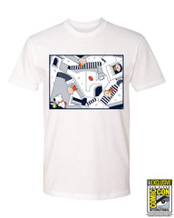 SDCC 2017 Exclusive - Crazy Stairs Dave Perillo tee - White (SDCC pickup only)
