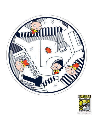 "ARCHIVE: Family Guy - ""Crazy Stairs"" UltraStar 175gm flying disc"" Dave Perillo artwork"